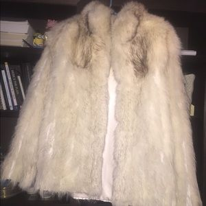 Vintage snow fox fur jacket. Precious!